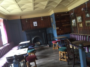 The Miners Pub, Ashington. Old social club converted into spit & sawdust bar kitchen/sports bar. Quirky interior, working fires, zinc bar top and bar made form Victorian snooker table... All good!